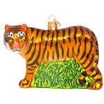 Mizzou Glass Tiger Full Body Ornament
