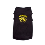 Mizzou Tiger Head Black Pet T-Shirt