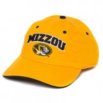 Mizzou Oval Tiger Head Gold Adjustable Hat