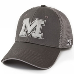 Mizzou Block M Grey Stretch-Fit Hat