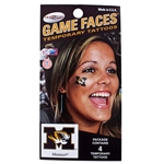 Mizzou Tiger Head Temporary Face Tattoo