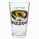 Mizzou Oval Tiger Head Fight Song Pint Glass