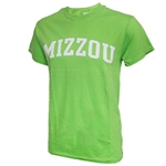 Mizzou Lime Green Crew Neck T-Shirt