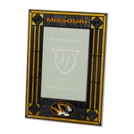 Missouri Oval Tiger Head Black & Gold Glass 4x6 Photo Frame