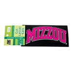 Mizzou Black and Pink Car Decal