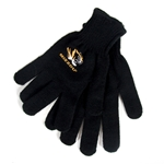Mizzou Tiger Head Black Gloves