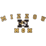 Mizzou Black and Gold Mom Car Decal