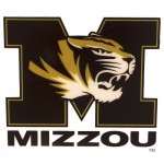 Mizzou Tiger Head Block M Decal
