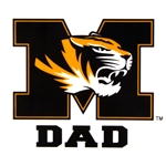 Mizzou Black and Gold Dad Car Decal