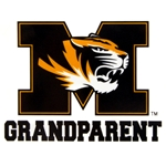 Mizzou Grandparent Tiger Head  Decal