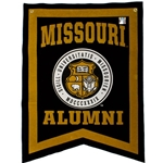 Mizzou Alumni Black and Gold Seal Banner