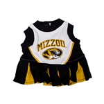 Mizzou Oval Tiger Head Black & Gold Cheerleader Pet Outfit