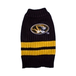 Mizzou Black and Gold Pet Sweater