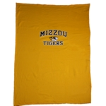 Mizzou Tigers Gold 54x84 Blanket