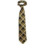 Mizzou Official Plaid Polyester Tie