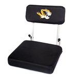 Mizzou Tiger Head Hard Back Black Stadium Seat