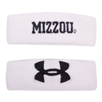 "Mizzou Under Armour White 1"" Wristbands"