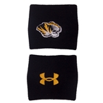 Mizzou Under Armour Black Performance Wristbands