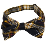 Mizzou Official Plaid Bow Tie