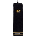 Missouri Tiger Head Woven Black Golf Towel