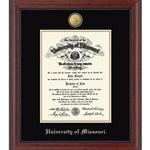 University of Missouri Official Seal Cherry Moulding Diploma Frame