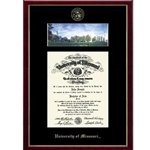 University of Missouri Official Seal Campus Scene Edition Diploma Frame