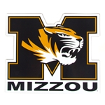 Mizzou Tiger Head Car Magnet