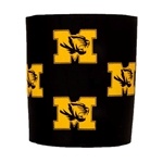 Mizzou Tiger Head Black Foam Koozie