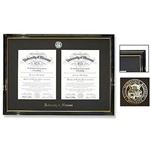 University of Missouri Official Seal Petite Double Black Diploma Frame