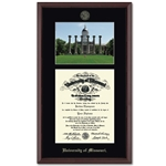 University of Missouri Official Seal Jesse Hall Edition Diploma Frame
