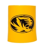 Mizzou Oval Tiger Head Gold Foam Koozie
