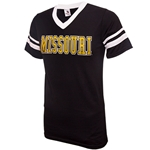 Missouri Tigers Striped Sleeve Jersey Black T-Shirt