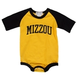 Mizzou Baby Black and Gold Infant Onesie