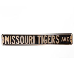 Missouri Tigers Ave Street Sign