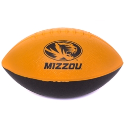 Mizzou Oval Tiger Head Black & Gold Nerf Football