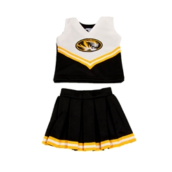Mizzou Toddler Black & Gold Replica 2-Piece Cheerleader Set