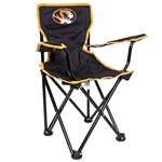 Mizzou Toddler Oval Tiger Head Black & Gold Tailgate Chair