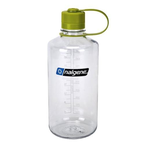 Nalgene Tritan Narrow Mouth Bottle with Green Lid