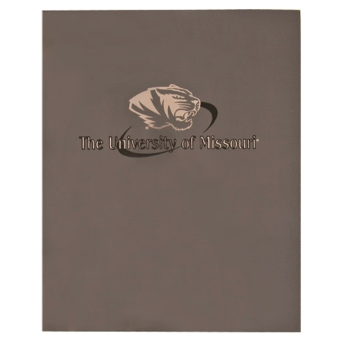 University of Missouri Silver Tiger Head Folder