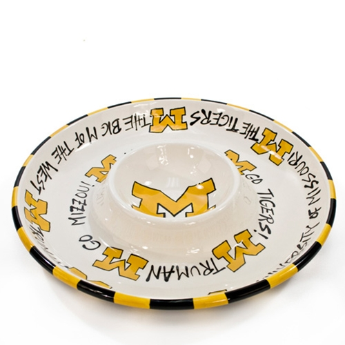 Missouri Tigers Chip & Dip Ceramic Dish