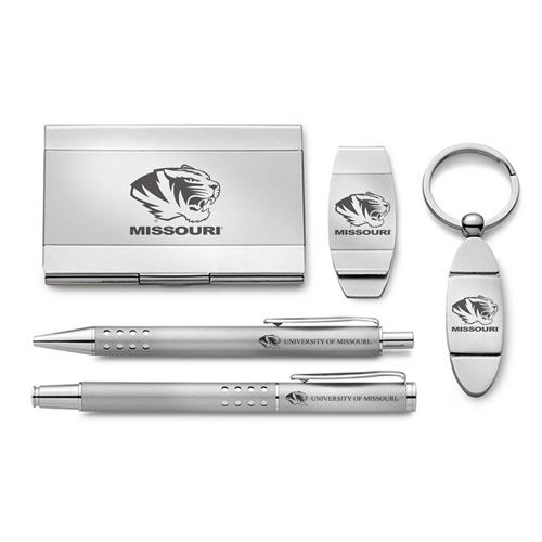 Mizzou Silver 5-Piece Office Gift Set