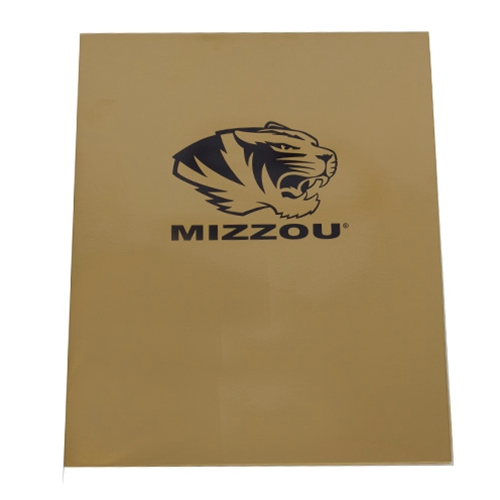 Mizzou Black Tiger Head Gold Folder