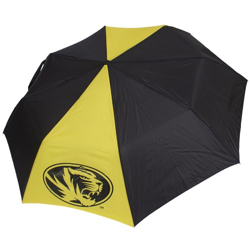 Mizzou Oval Tiger Head Black & Gold Umbrella