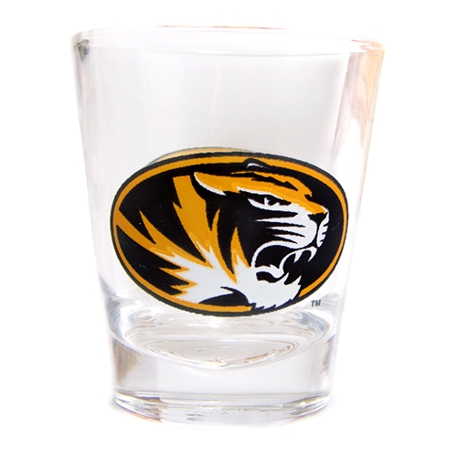 Missouri Tiger Head Clear Shot Glass
