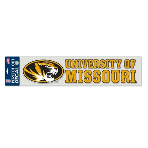 University of Missouri Oval Tiger Head Decal