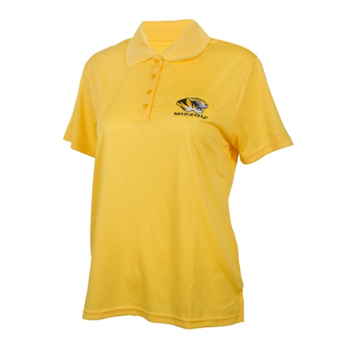 Mizzou Women's Tiger Head Gold Polo