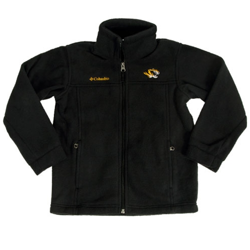 Mizzou Columbia Kids' Tiger Head Black Full Zip Fleece Jacket