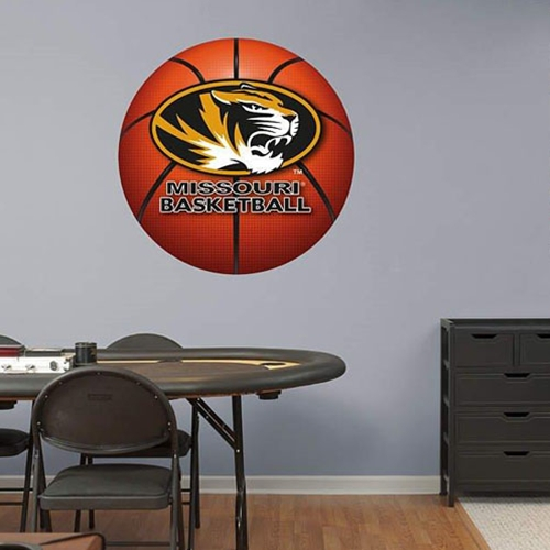 Missouri Oval Tiger Head Basketball Wall Decal
