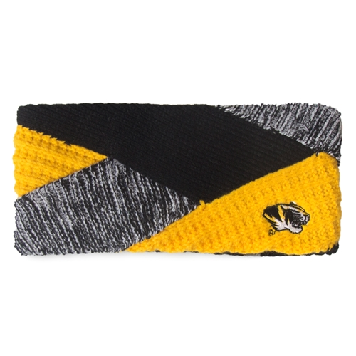 Mizzou Tiger Head Black & Gold Knit Headband