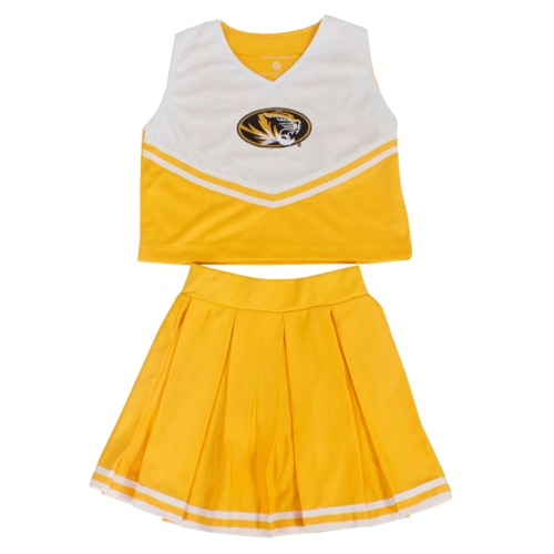 Mizzou Kids' Gold & White 2-Piece Cheerleader Set
